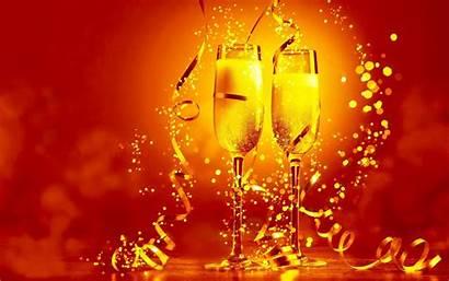 Years Champagne Toast Wallpapers Nieuwjaarswensen Ano Rok