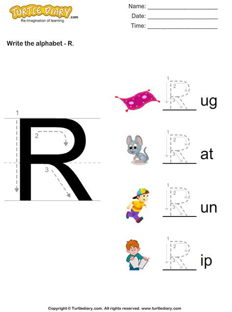 write alphabet   uppercase worksheet turtle diary