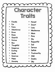 Best Character Traits Worksheets - ideas and images on Bing | Find ...