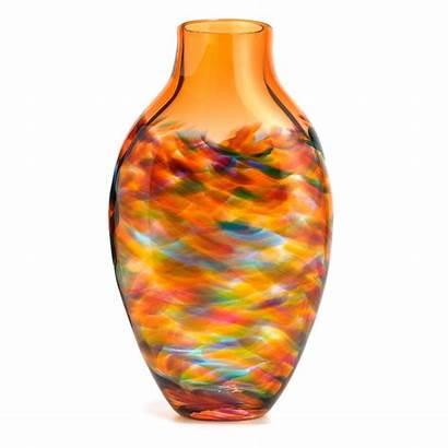 Vase Tangerine Vortex Tall Uncommongoods