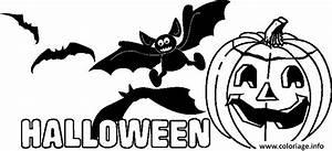 Citrouille Halloween Dessin : coloriage halloween citrouille et chauves souris dessin ~ Melissatoandfro.com Idées de Décoration