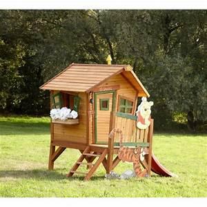 Maison En Bois Enfant : axi maisonnette enfant cabane en bois winnie l 39 ourson ~ Nature-et-papiers.com Idées de Décoration