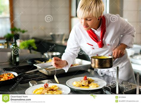 cuisine chef chef in a restaurant or hotel kitchen cooki stock