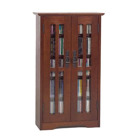 Leslie Dame Deluxe Media Storage Cabinet by Leslie Dame Wall Hanging Mission Style Multimedia Cabinet