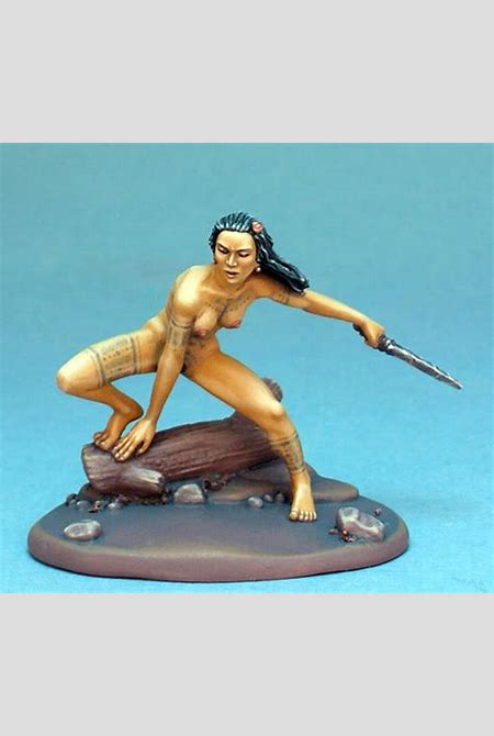 Nude Study # 1 - Ecto Body Type - Female Feral Warrior Naked - Visions in Fantasy (x1 fig)