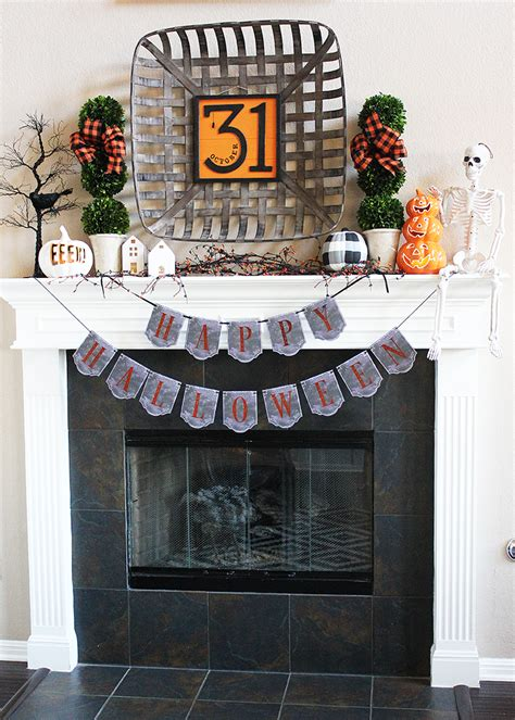 farmhouse halloween mantel decorations stylish halloween