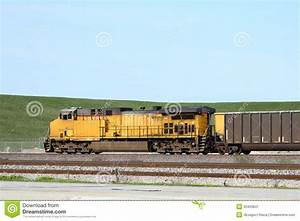 Side View Of A Freight Train Stock Image - Image: 33420841