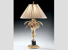 Unique Table Lamp and Vase and Flowers Brass Table Lamp