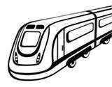 Tram Coloring Coloringcrew sketch template