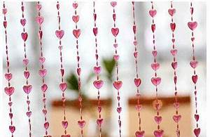 Rideau De Porte Fantaisie : rouge forme de coeur perles rideau de porte divider perle ~ Premium-room.com Idées de Décoration