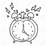 Clock Alarm Coloring Cartoon Drawing Clipart Ringing Clip Line Getcolorings Printable Pages Getdrawings sketch template