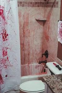 how to decorate bathroom for halloween 5 ideas for With crime scene bathroom decor