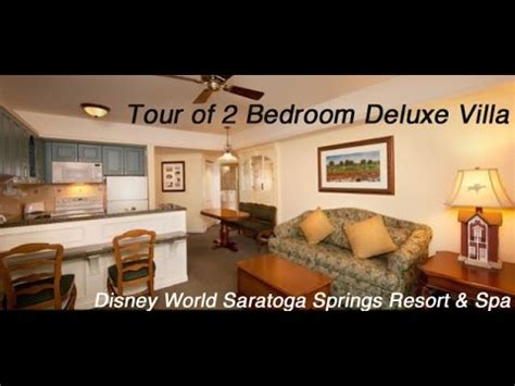 walt disney world saratoga springs resort spa 2 bedroom deluxe villa tour
