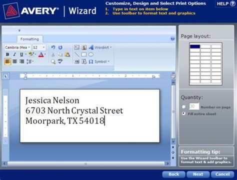 Avery Templates And Software by How To Save A Template In Avery Wizard Software For