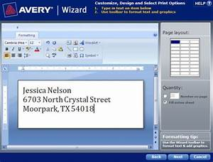 How to save a template in avery wizard software for for Avery templates and software