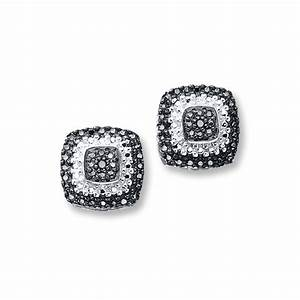 Kay - Black Diamond Earrings Sterling Silver