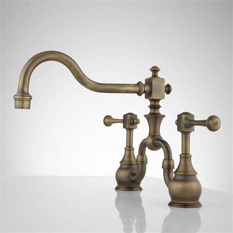 antique kitchen faucets vintage bridge kitchen faucet lever handles kitchen