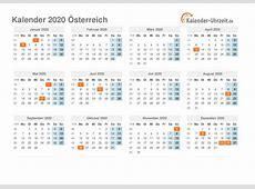 Feiertage 2020 Österreich Kalender & Übersicht