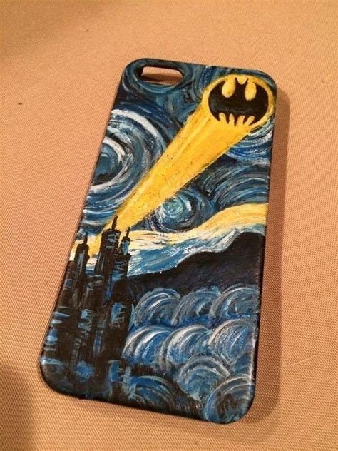 batmanvan goghs starry night hand painted phone case