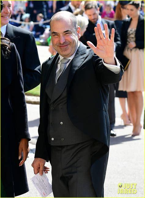 suits cast arrives  royal wedding  support meghan