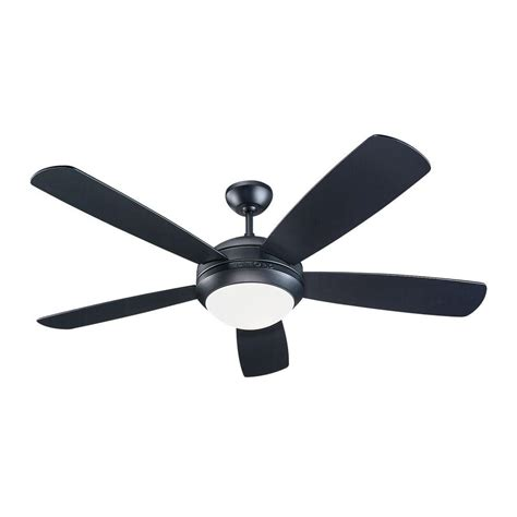 matte black ceiling fan monte carlo discus 52 in matte black ceiling fan 5di52bkd