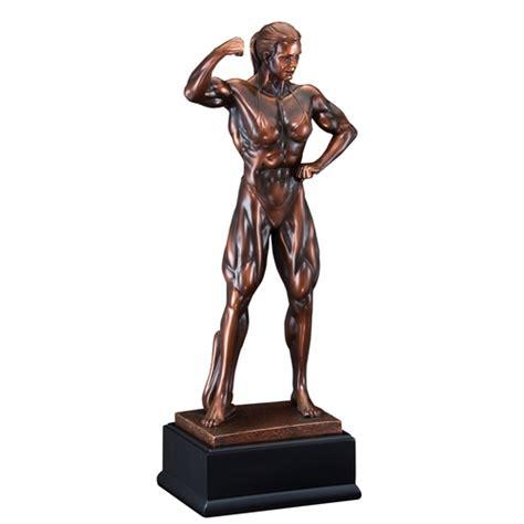 female body building trophy