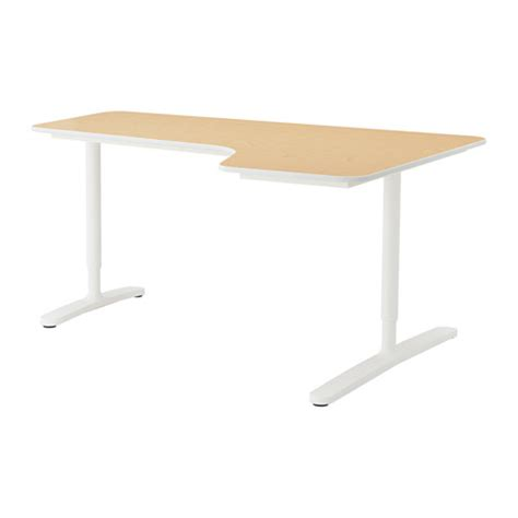 White Ikea Galant Corner Desk by Bekant Corner Desk Right Birch Veneer White 63x43 1 4