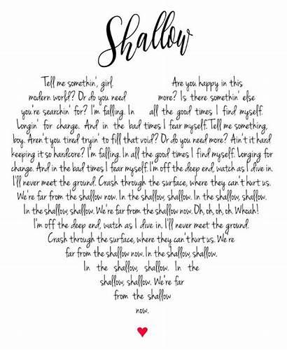 Shallow Lyrics Gaga Lady Star Born Heart