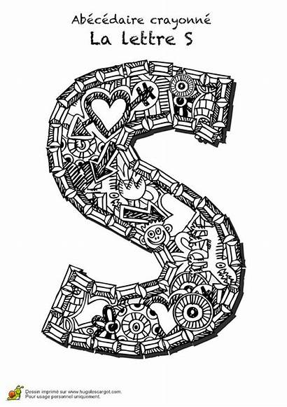 Coloring Pages Letters Letter Doodle Lettering Hand