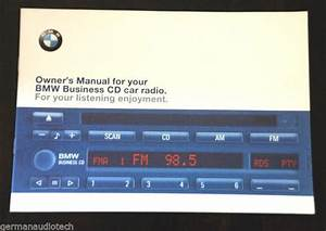 New Owner U0026 39 S Manual For Bmw Business Cd43 Cd Player Radio