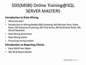 Ssis(msbi) online training@sql server masters