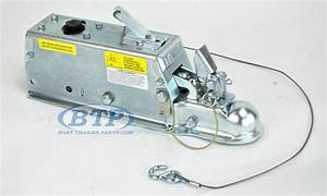 Titan Model 60 Hydraulic Trailer Disc Brake Surge Coupler Actuator 2 Inch Ball 7 000lb Lever Lock