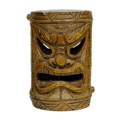 bamboo style tiki god solar powered light tropical