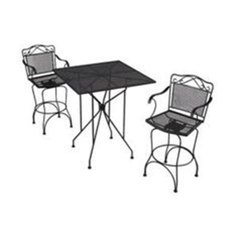 wrought iron black swivel patio bar chairs 2 pack w3929