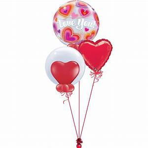 I love you bubble bunch magic balloons for I love you letter balloons