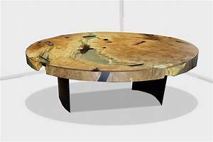 River run coffee table live edge design inc canada for Rounded edge coffee table
