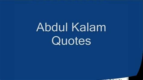 abdul kalam quotes part  youtube