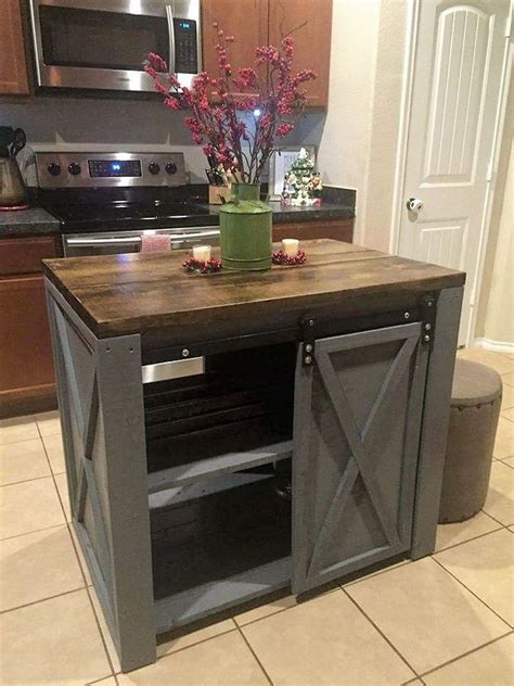 pallet kitchen island creative home furnishing with recycled pallets wood 1406