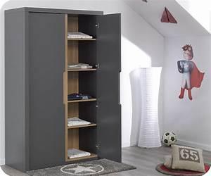 Armoire Chambre Enfant : armoire grise pour chambre patcha ~ Teatrodelosmanantiales.com Idées de Décoration