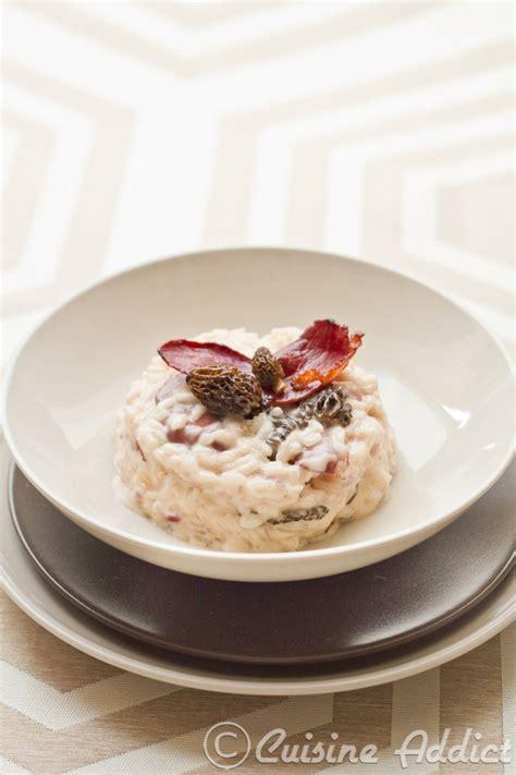 cuisine addict com risotto aux morilles et magret de canard séché cuisine