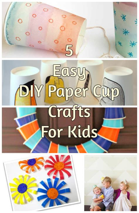 5 Easy Diy Paper Cup Crafts For Kids