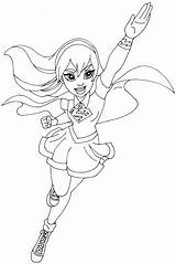 Coloring Supergirl Pages Hero sketch template