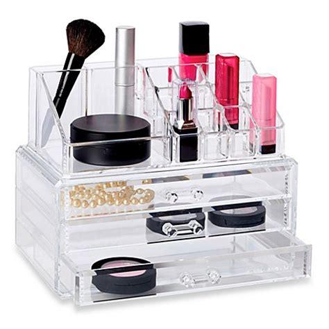 makeup drawer organizer deluxe 2 3 drawer cosmetic organizer set bed bath