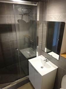 le panoramique troyes With porte de douche coulissante avec meuble de salle de bain livré monté