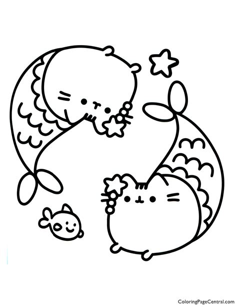 pusheen coloring page  coloring page central