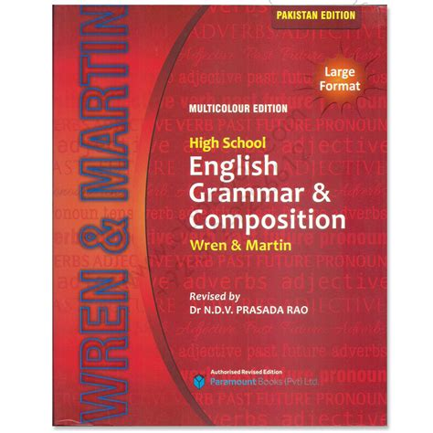 Wren & Martins High School English Grammar & Composition 2016  Cbpbook  Pakistan's Largest