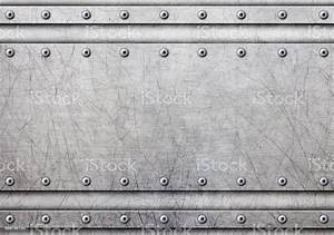 Metal, Plate, With, Rivets, Over, Rustic, Steel, Background, 3d, Illustration, Stock, Photo