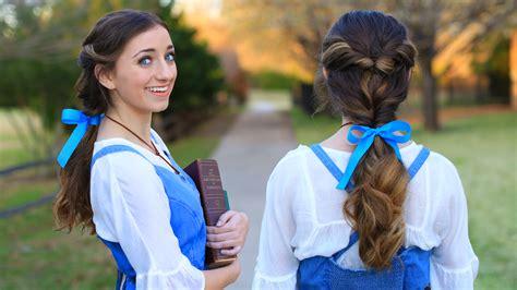 belle ponytail beauty  beast cute girls hairstyles