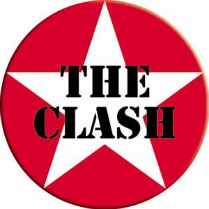 The Clash Star Logo Round Magnet