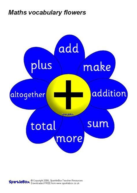 mathematical vocabulary  flowers sb sparklebox
